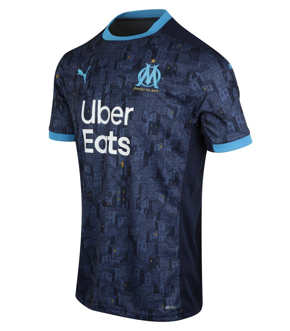 maillot extérieur Olympique Marseille saison 2020-2021