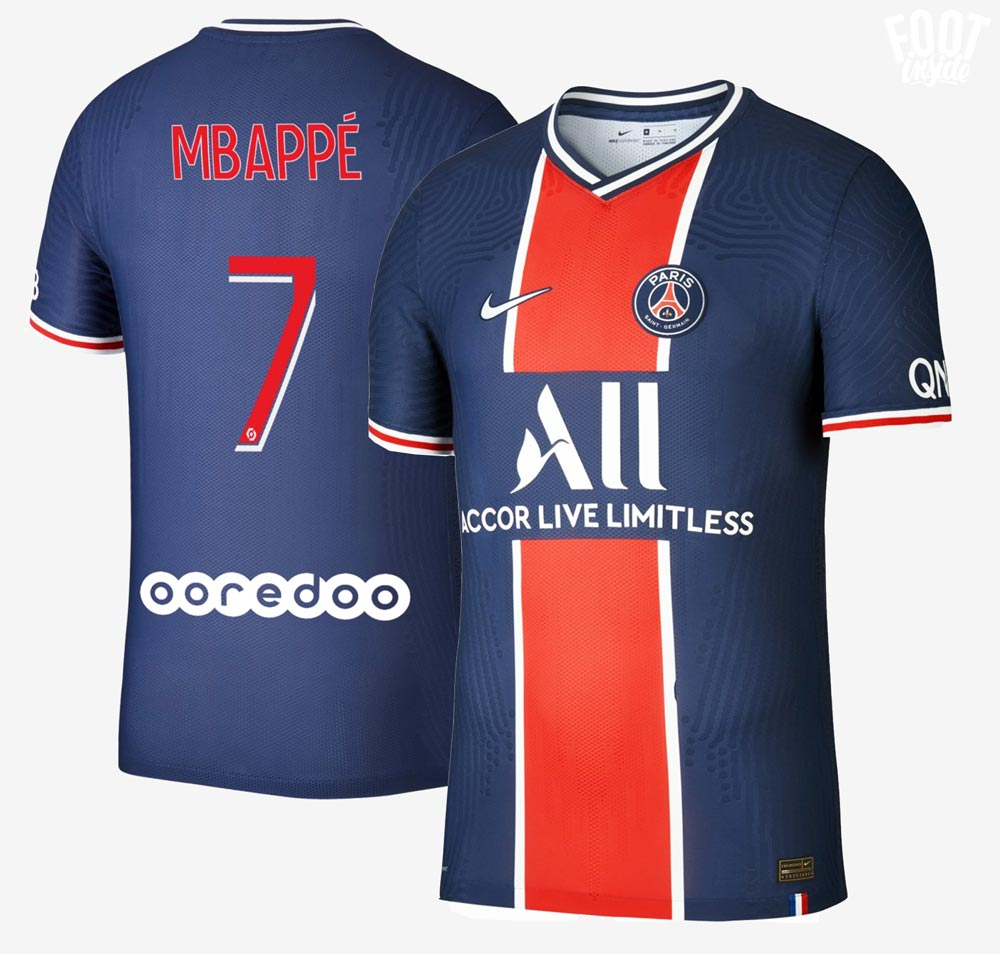 flocage officiel maillot PSG 2021 - crédit photo Foot Inside
