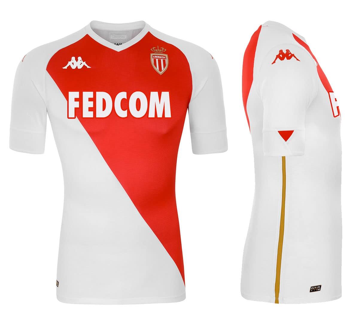 Maillot domicile AS Monaco 2021