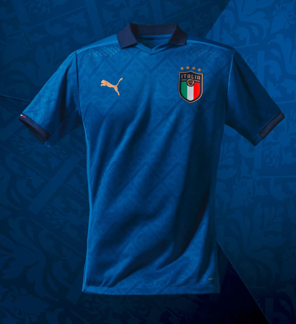Nouveau maillot de l'Italie pour la période 2020-2022