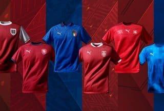 Puma présente les maillots nationaux pour l'EURO 2021