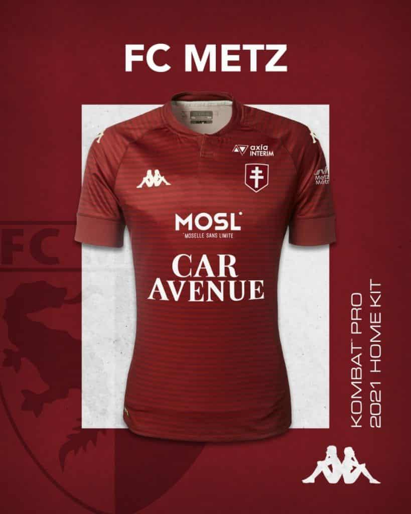 Maillot domicile FC Metz 2020-2021