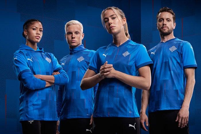 maillot domicile Islande EURO 2021