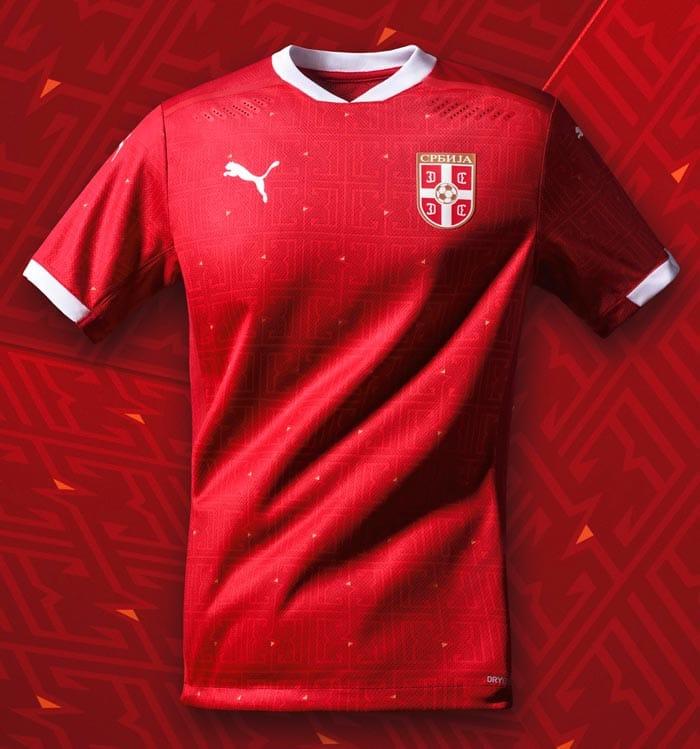 maillot domicile Serbie EURO 2021