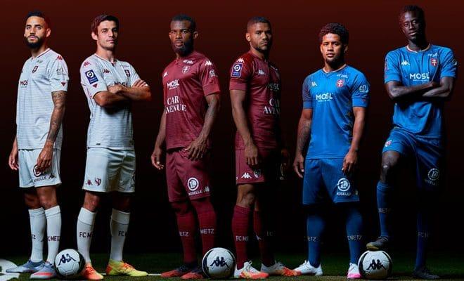 FC Metz: les nouveaux maillots 2021 dévoilés par Kappa