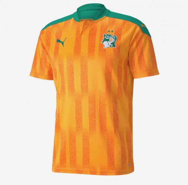 maillot domicile Côte d'Ivoire 2020