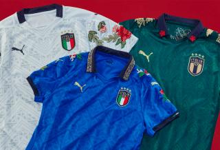 Puma s'associe à The Football Gal pour créer des maillots uniques de la sélection Italienne