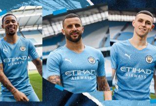Manchester City le maillot domicile dévoilé - saison 2021-2022