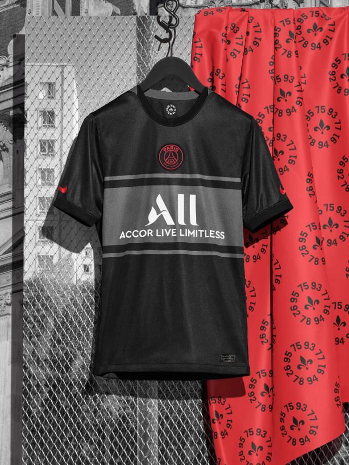 PSG le 3ème maillot pour la Ligue des Champions dévoilé - Saison 2021-2022